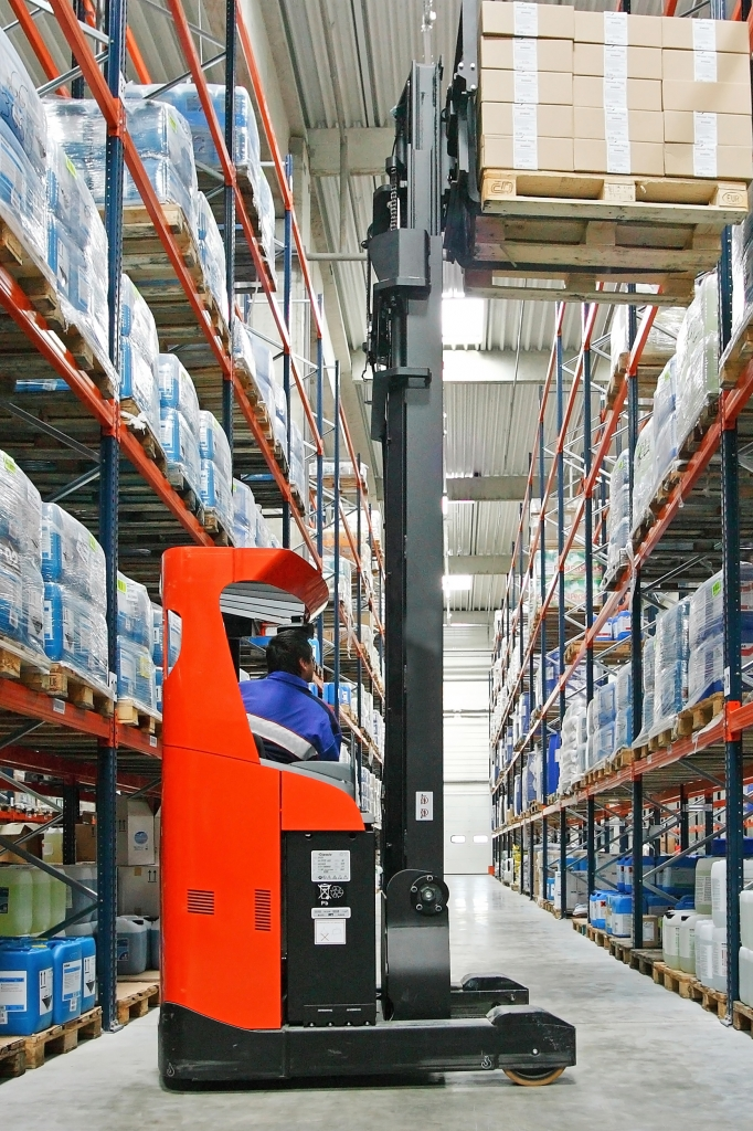 IGPL forklift in warehouse shot shutterstock_72639529